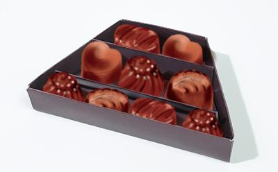 チョコレートの仕切り