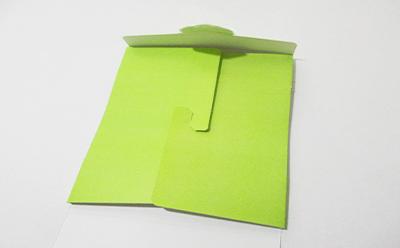 ヤッコ型(タトウ式)のパッケージにもなる台紙