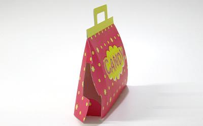 お菓子の詰め合わせ用キャリー箱