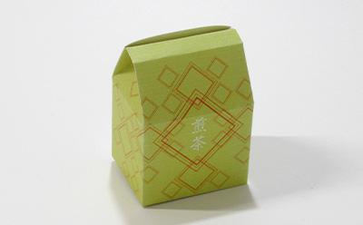 お茶の個装箱(角底箱)