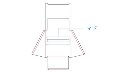 サンプルの布製品を掛けるための穴が空いています。