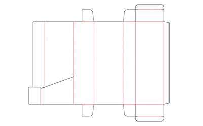 この立体の広告は箱型になっているので、置くことも掛けることもできます。